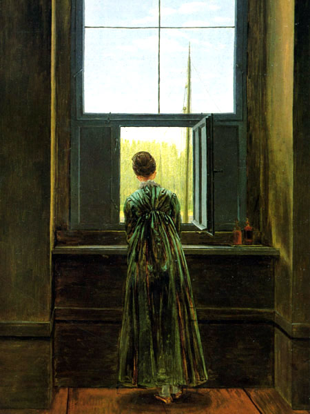 Женщина у окна, Фридрих Каспар Давид