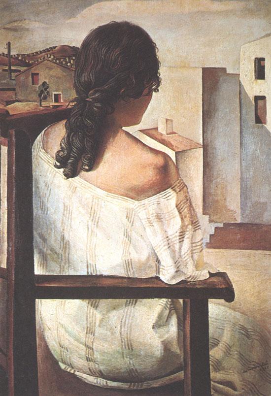 Девушка со спины, Сальвадор Дали
