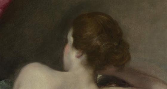 Венера перед зеркалом, фрагмент