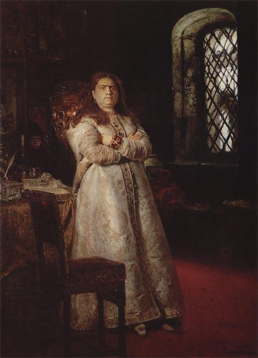 Репин И.Е., Великая княгиня Софья в Новодевичьем монастыре