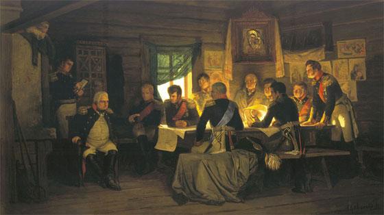 Военный совет в Филях А.Д. Кившенко