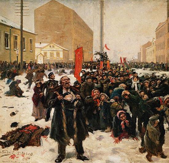 Маковский В.Е. 9 Января 1905 года на Васильевском острове