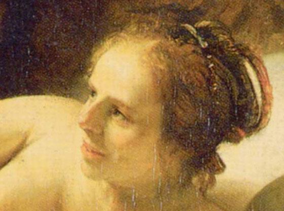 Рембрандт, Даная, фрагмент