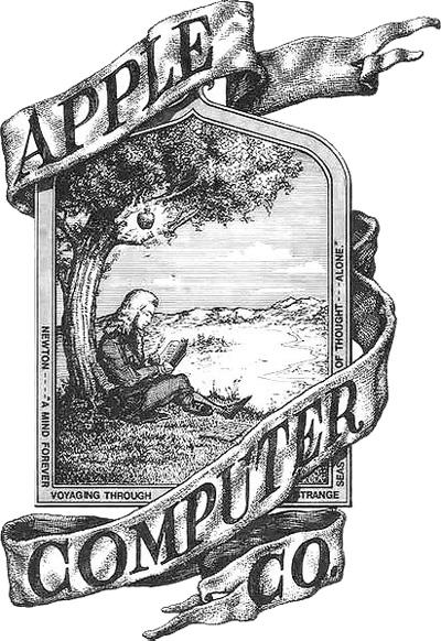 Первый вариант логотипа Apple