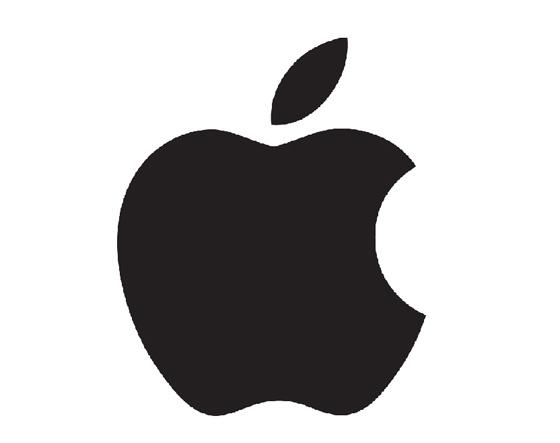Чёрный вариант логотипа Apple