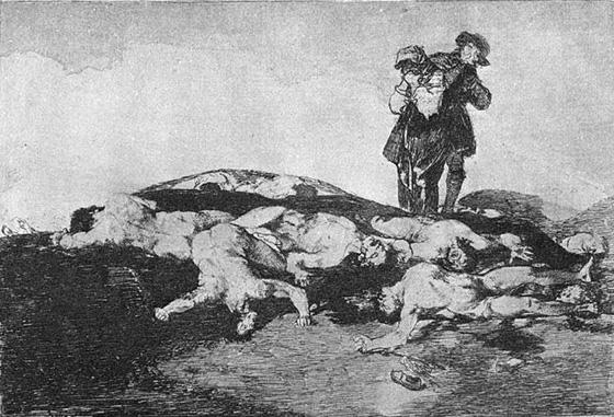 Франциско Гойя, серия гравюр Бедствия войны