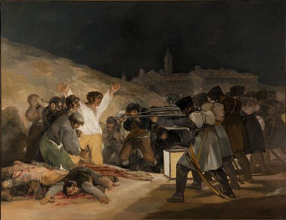 Франциско Гойя Расстрел повстанцев в ночь на 3 мая 1808 года