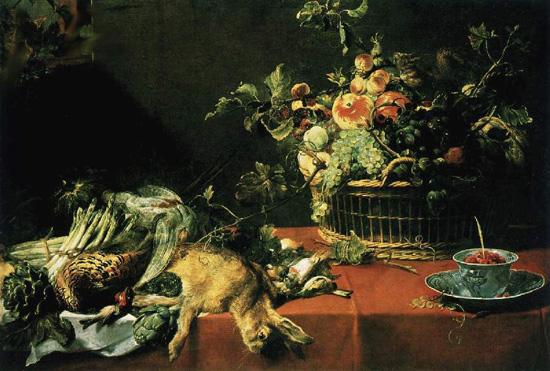 Франс Снейдерс, корзина с фруктами и дичь