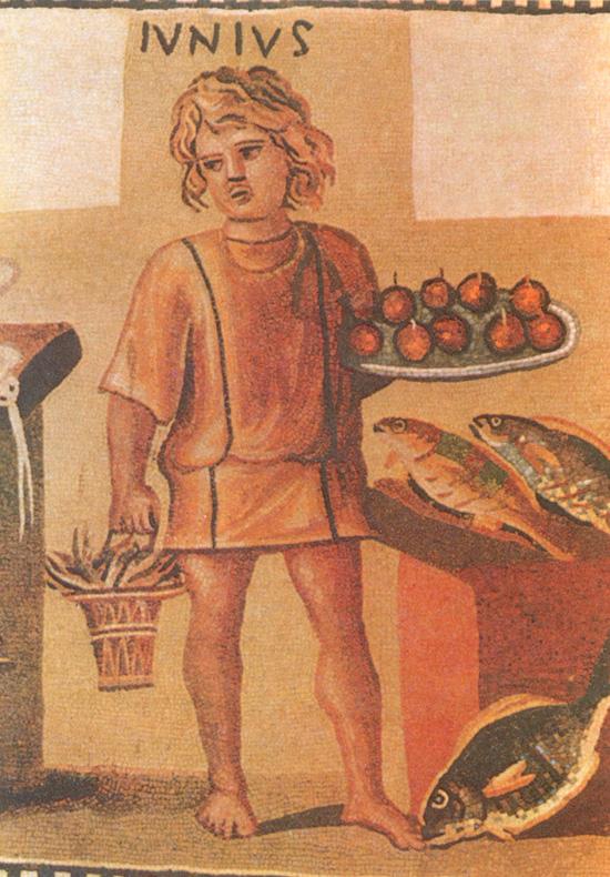 Римская мозаика Июнь, фрагмент, 3 век