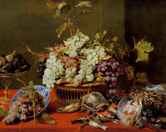 Франс Снейдерс, натюрморт с корзиной винограда