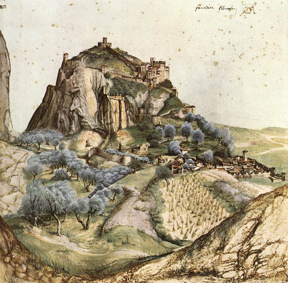 Акварельные пейзажи Альбрехта Дюрера