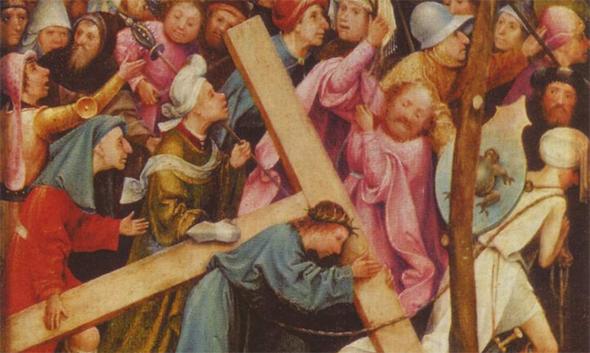 Фрагмент картины Иеронимуса Босха «Несение креста»