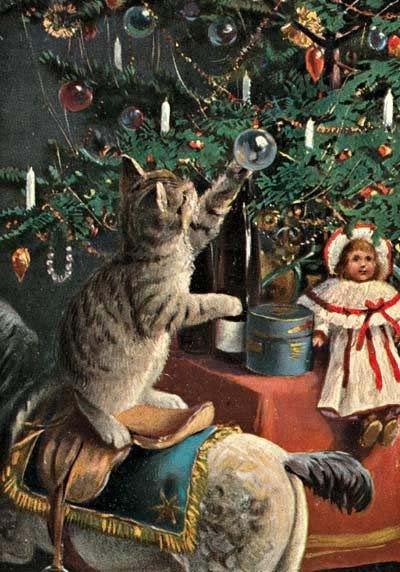 Новогодние ретро открытки