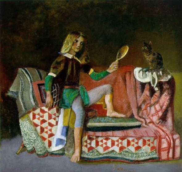 Бальтазар Клоссовский де Рола Кошка с зеркалом
