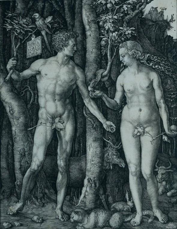 Дюрер, Адам и Ева