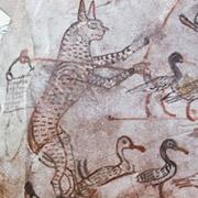 Кошка на фреске Древнего Египта