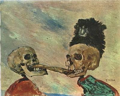 """Джеймс Энсор """"Битва скелетов за сельдь"""""""