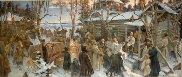Отъезд Суворова из Кончанского в поход 1799 года