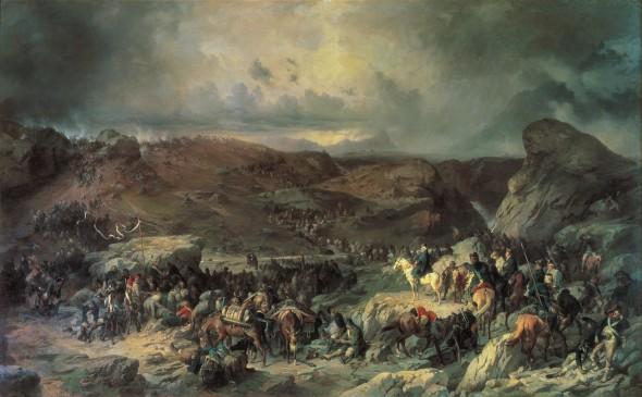 Переход войск Суворова через Сен-Готард 13 сентября 1799 года