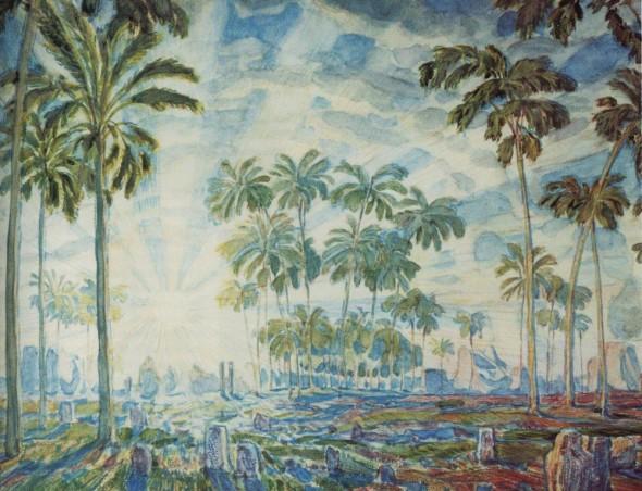 Константин Фёдорович Богаевский (1872 – 1943) «Пальмы» (1908)