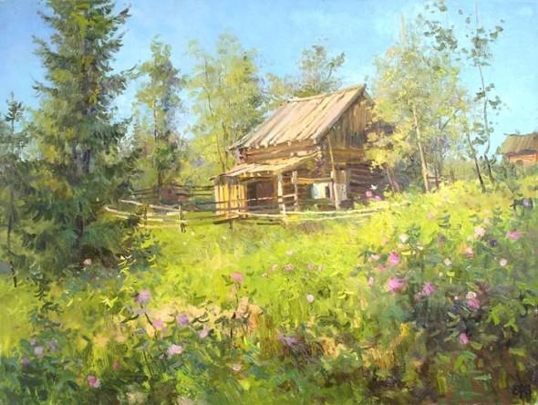 Алексей Валентинович Ефремов (р. 1963) «Шиповник цветёт» (2007)