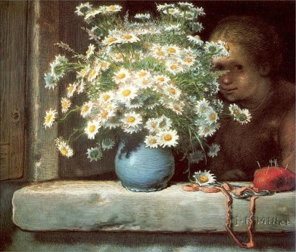 Жан-Франсуа Милле (1814 – 1875) «Букет ромашек» (1871-1874)