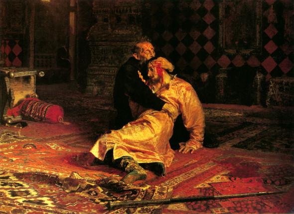 Илья Репин картина Иван Грозный