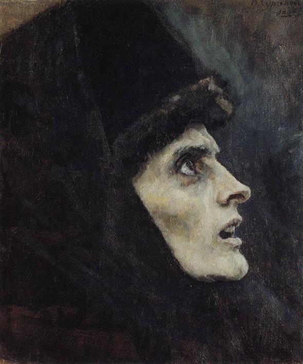 В.И.Суриков. Этюд «Голова боярыни Морозовой»