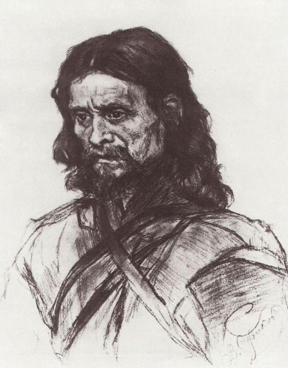 В.И.Суриков. Эскиз к картине «Боярыня Морозова»