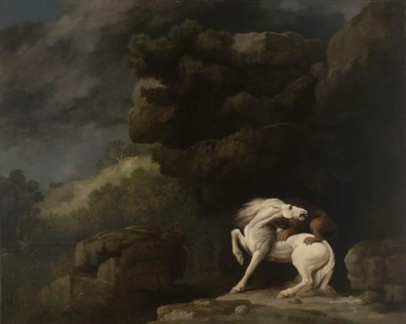Джордж Стаббс, «Лев, нападающий на лошадь»