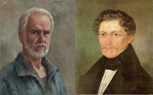 Мариус ван Доккум (2012) Карл Шпицвег (1840)