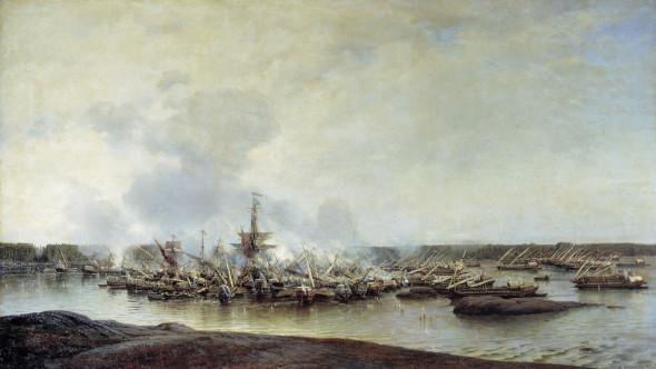 Алексей Петрович Боголюбов, «Сражение при Гангуте 27 июля 1714 года»