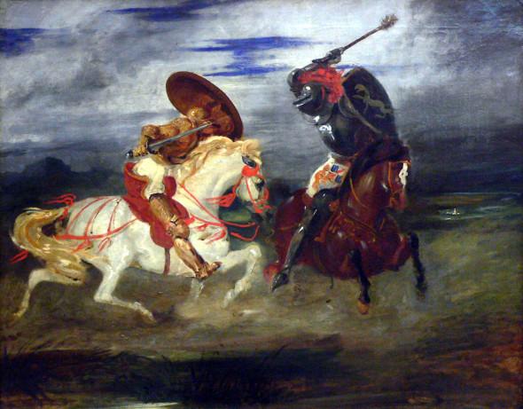 Эжен Делакруа, «Сражение рыцарей»