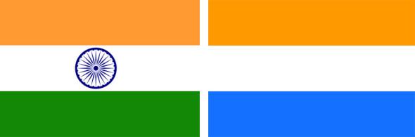 Флаг Индии и Флаг Нидерландов