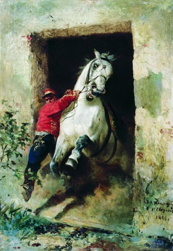 Николай Егорович Сверчков, «Из конюшни»,