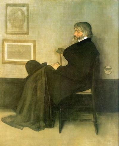 Джеймс Уистлер. «Вариация в сером и зелёном. Портрет Томаса Карлейля»