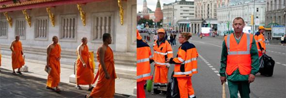 Оранжевые одежды буддистов
