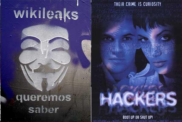 Слева знаменитый хакер Джулиан Ассанж, справа безумная Acid Burn